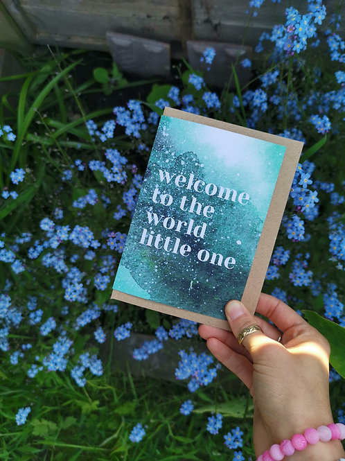 Welcome Little One Greetings Card