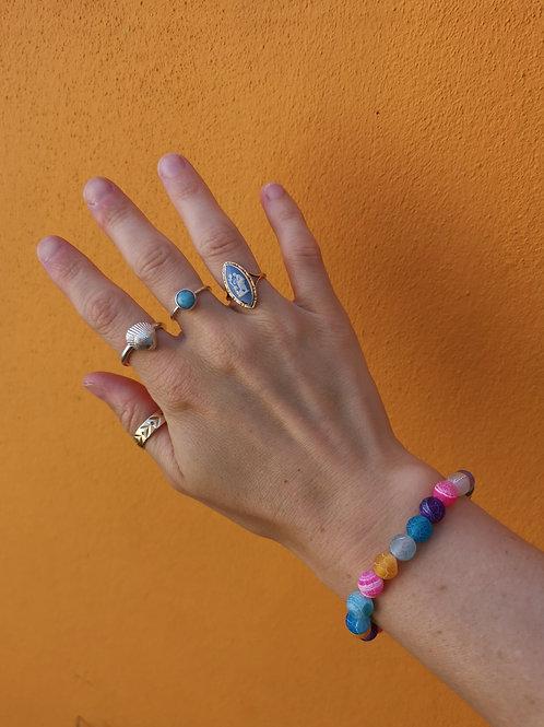 Mixed Large Agate Bracelet