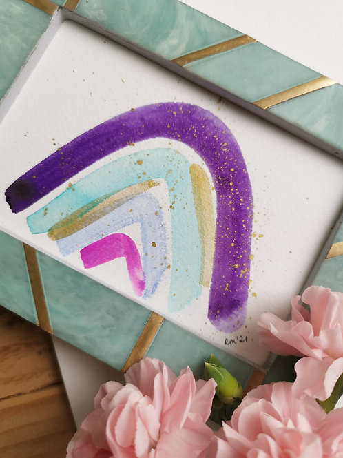 Purple Rainbow - Original Painting