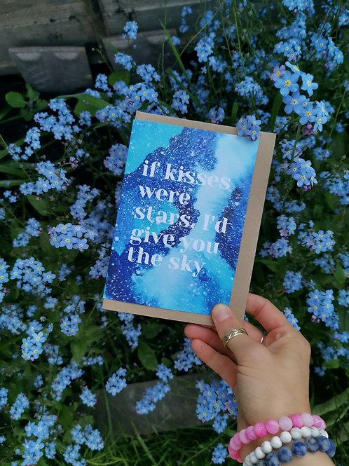 If Kisses Were Stars Greetings Card