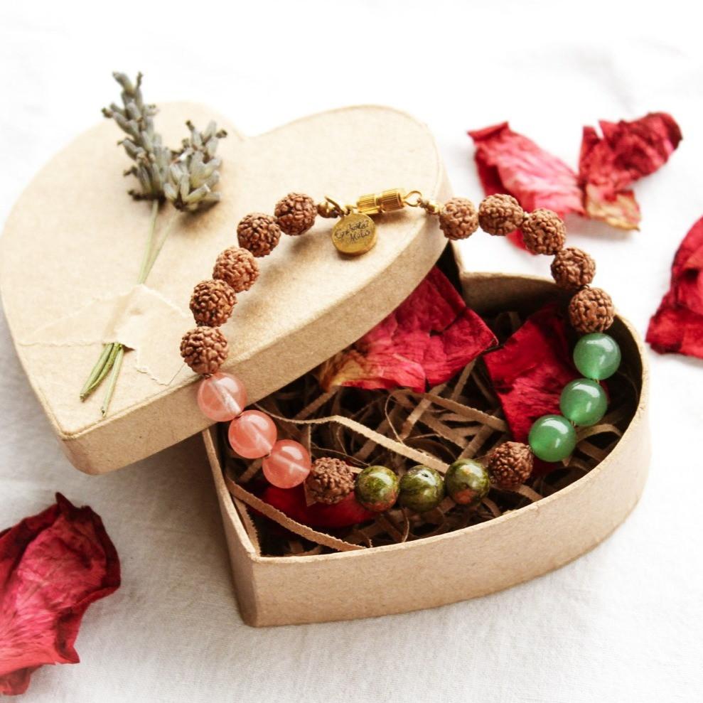 Enchanted Malas Bracelet in Heart Box.