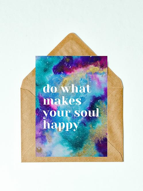 Happy Soul Greetings Card