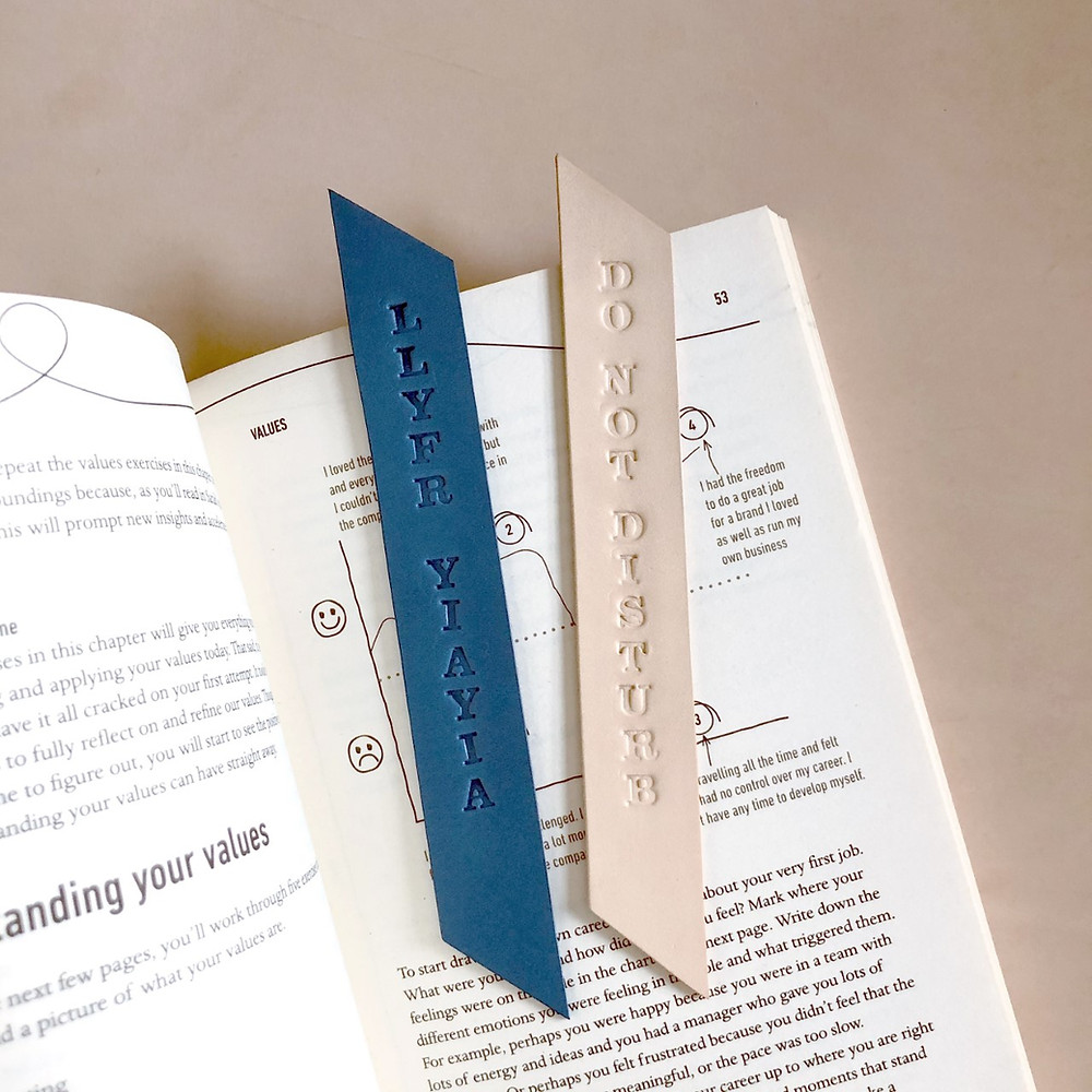 Anna Figgins Design Leather Bookmarks
