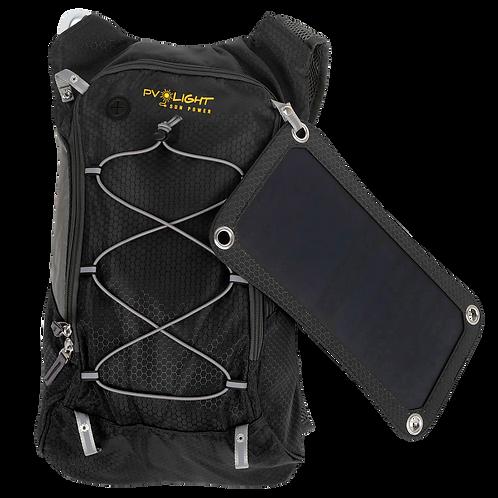 Mochila Solar PV LIGH SP 6.5 W / 5 V com bolsa de hidratação de 2L
