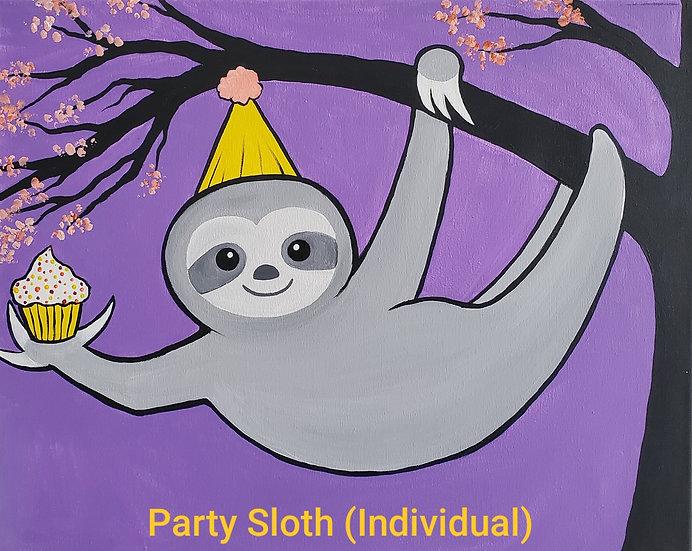 Party Sloth Individual