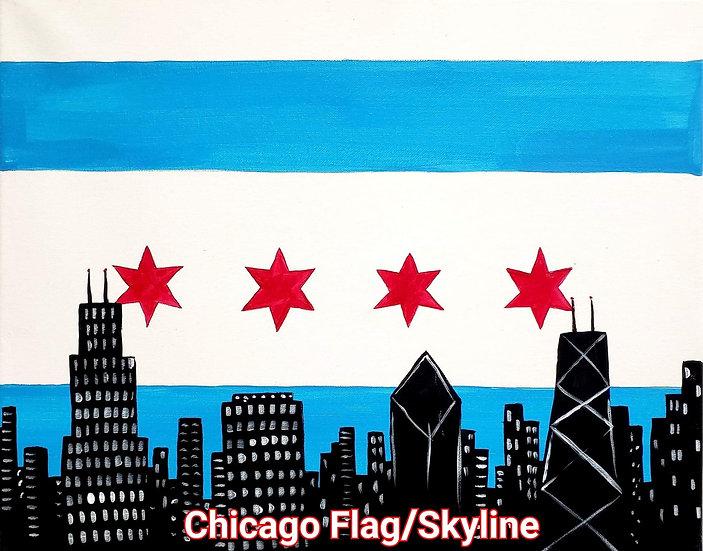 Chicago Flag/Skyline