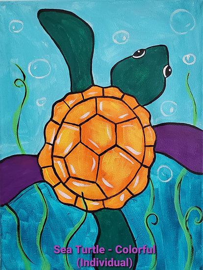 Colorful Sea Turtle