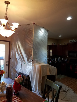 Dust protection tenting
