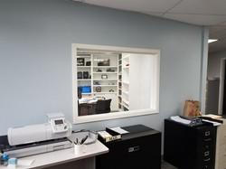 Interior office window built