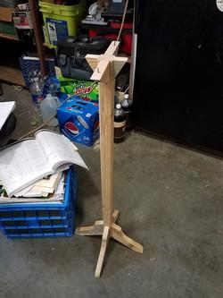 Decor birdhouse stand fabricated
