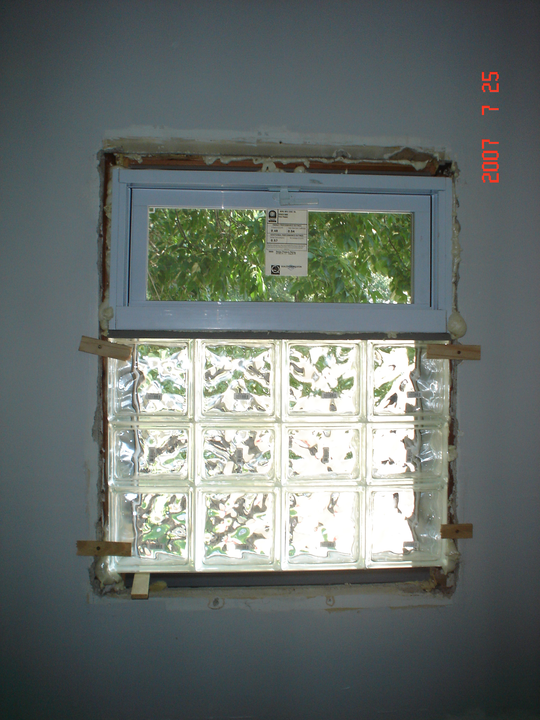 Glass Block Window Upgrade