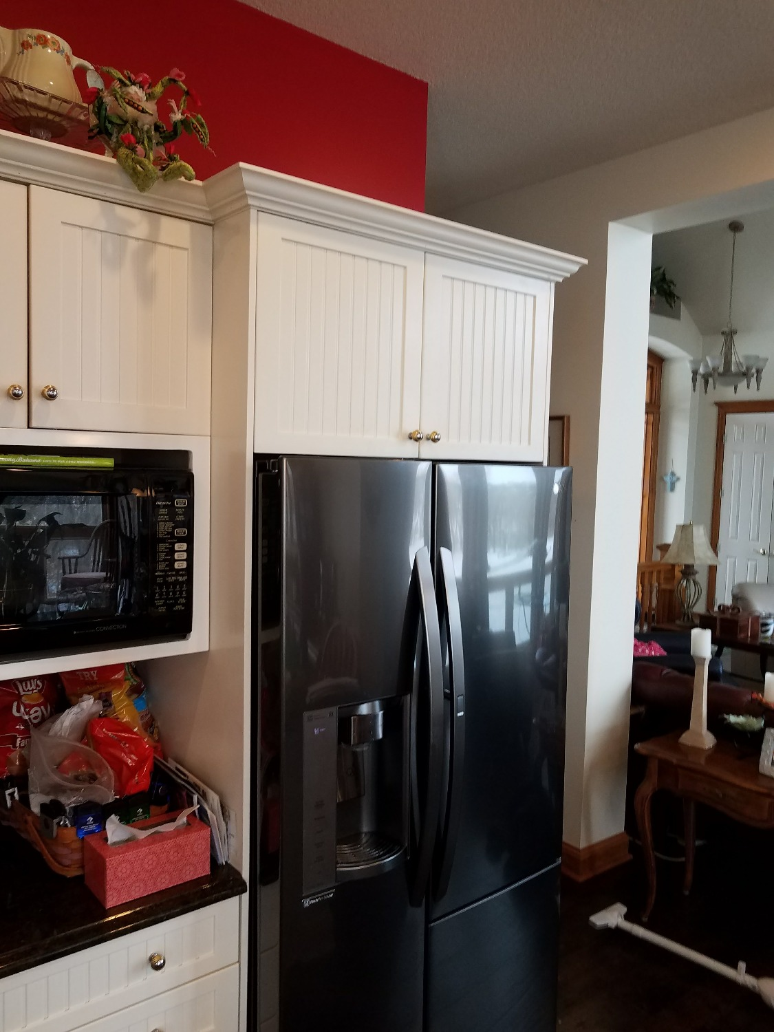 Cabinet shortened for new fridge