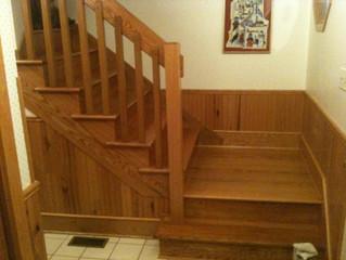 Oak staircase remodel kept me busy through Christmas