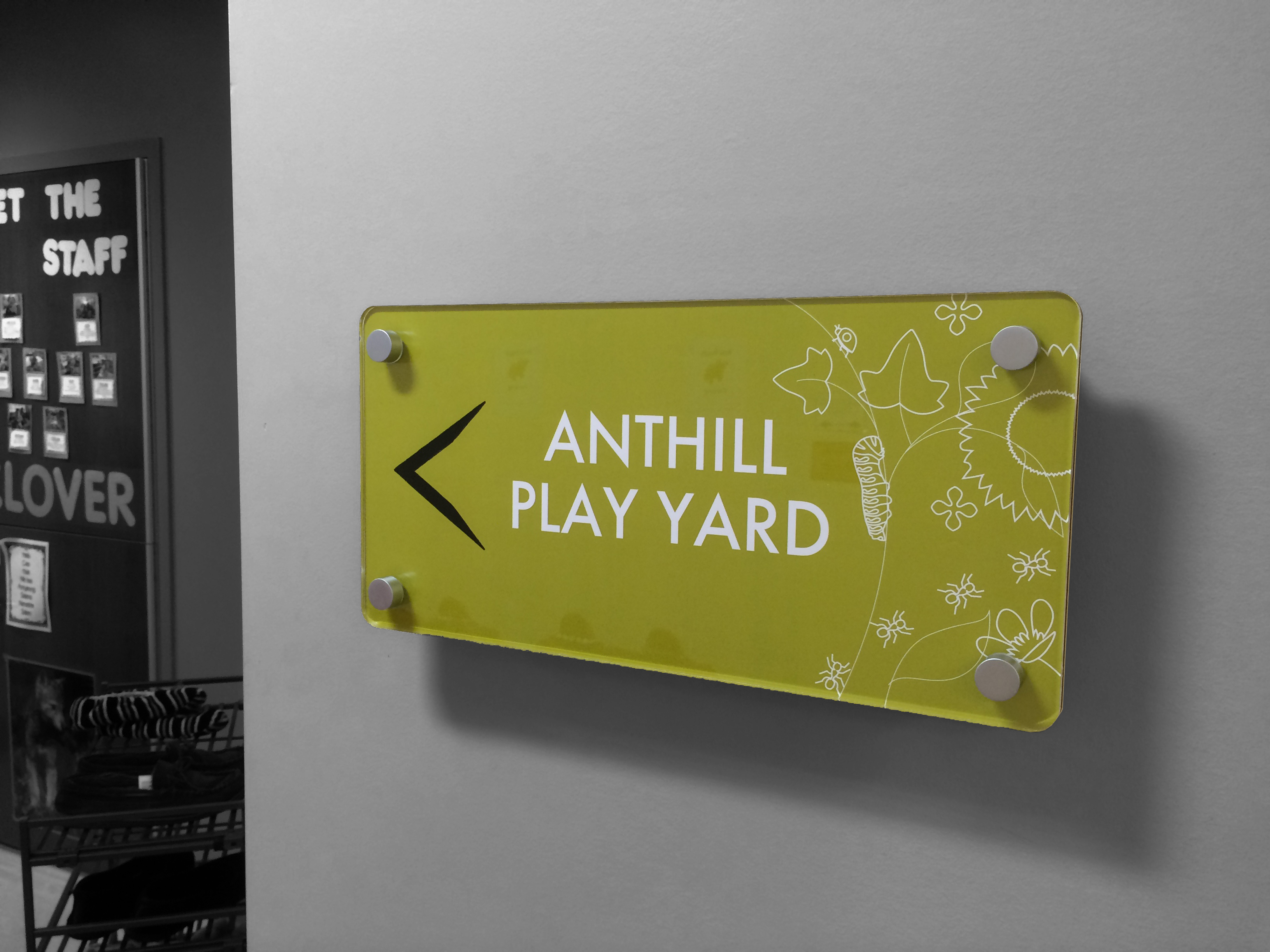 Interior Signage - Ant Hill Play Yard