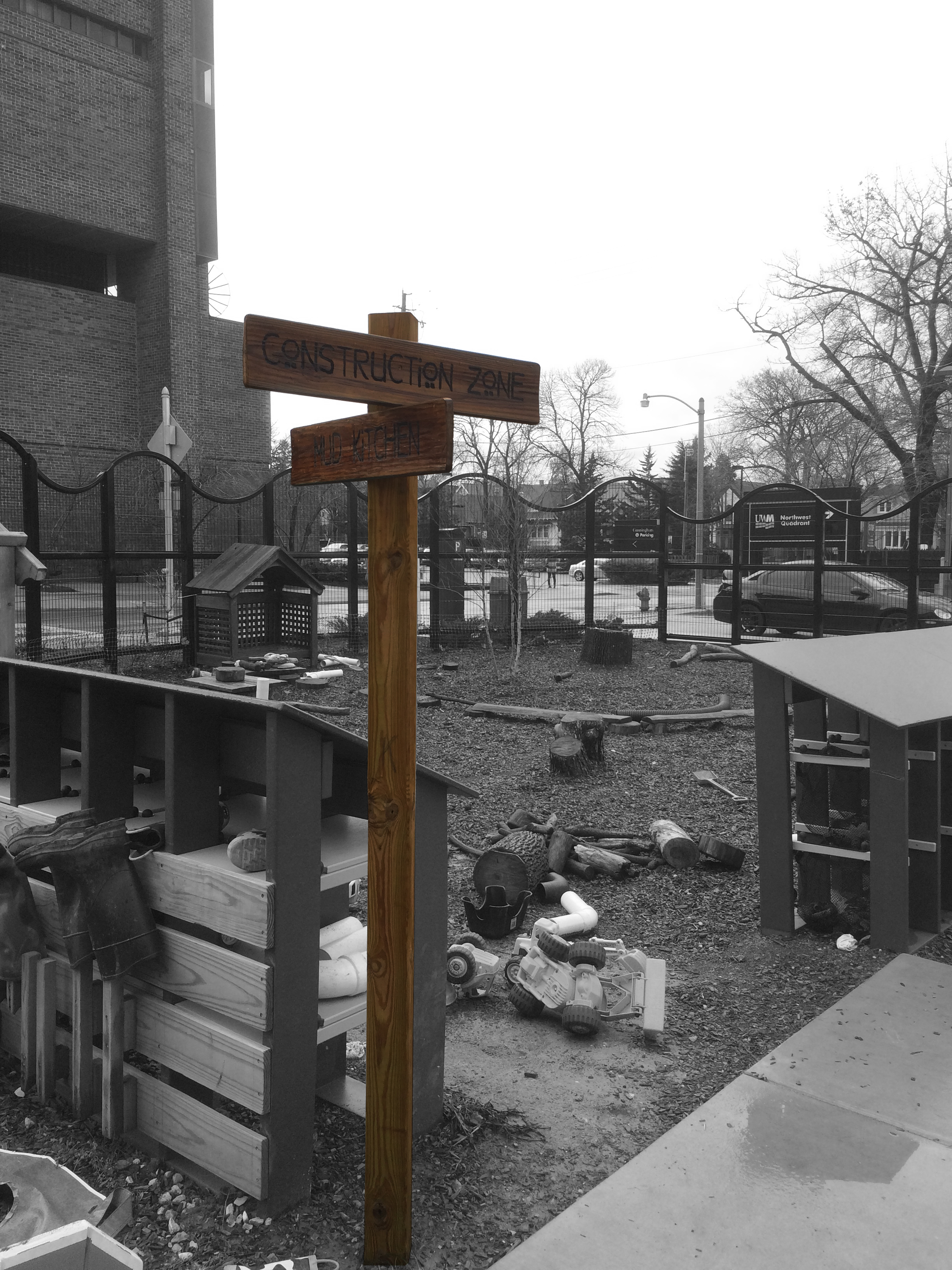 Exterior Signage - Mud Kitchen / Construction Zone