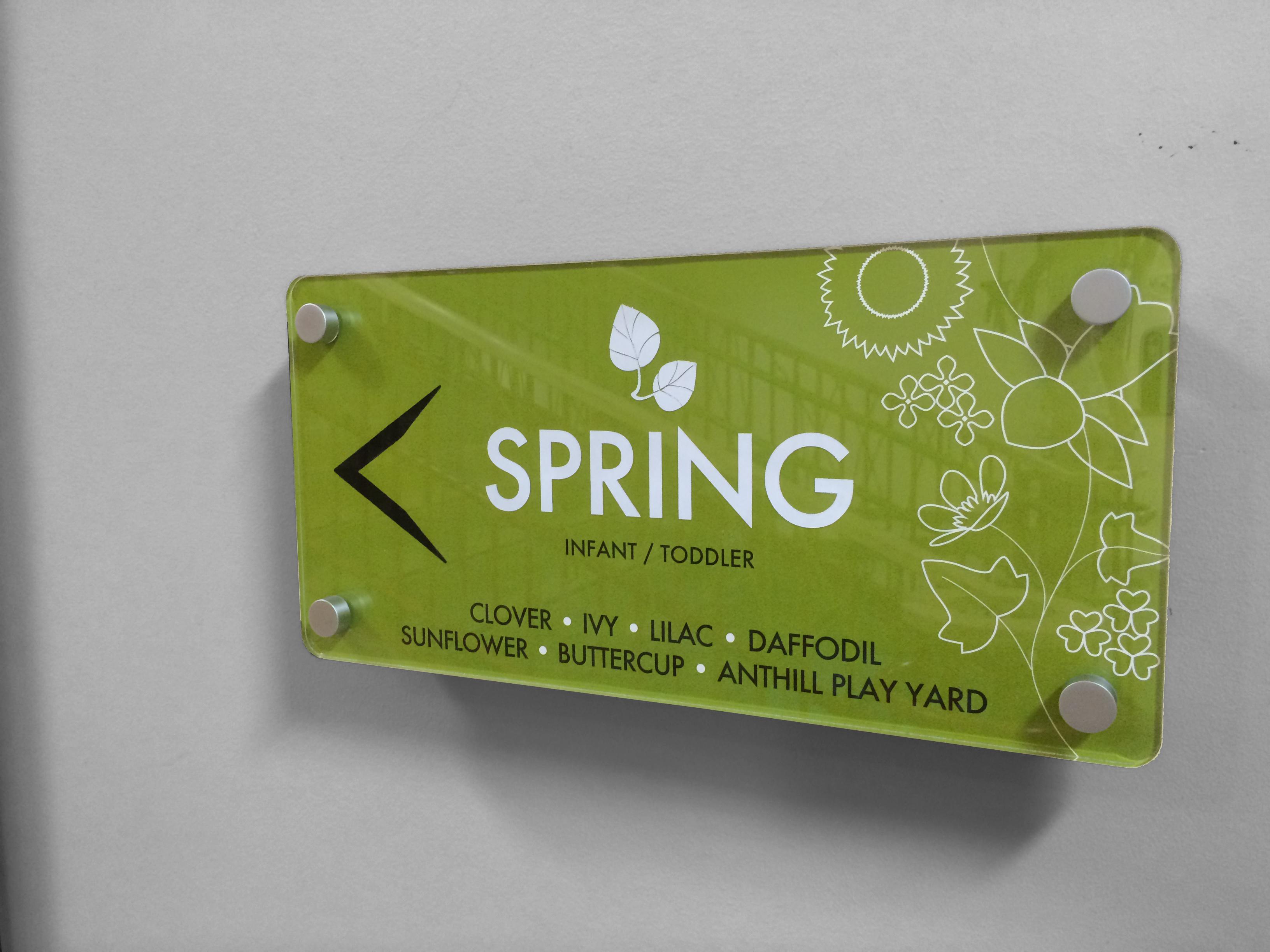 Interior Signage - Spring Wing