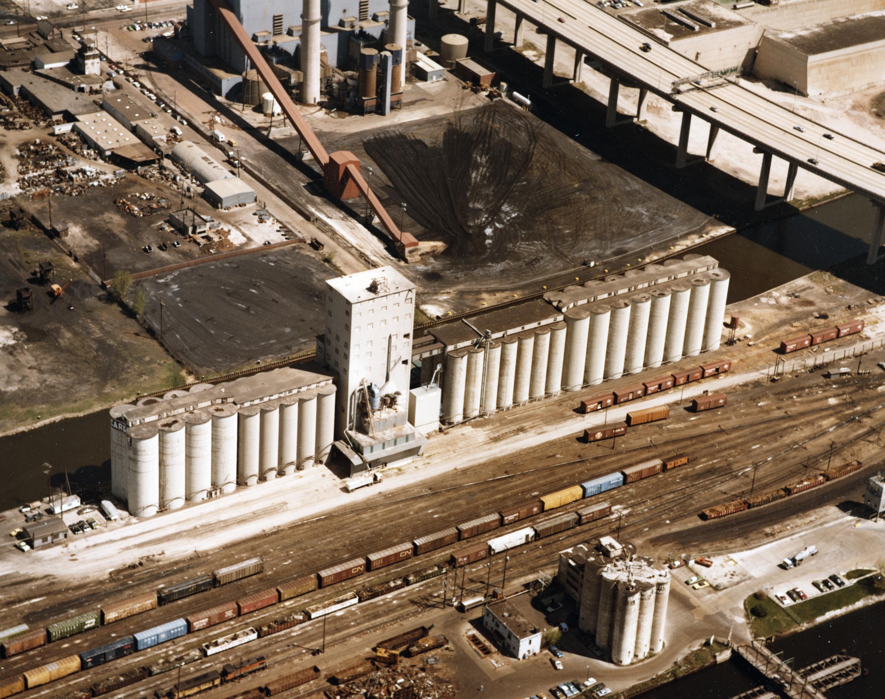Elevator E Aerial View - 1980's