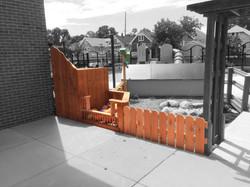 Ball Bin + Fence + Birdhouses