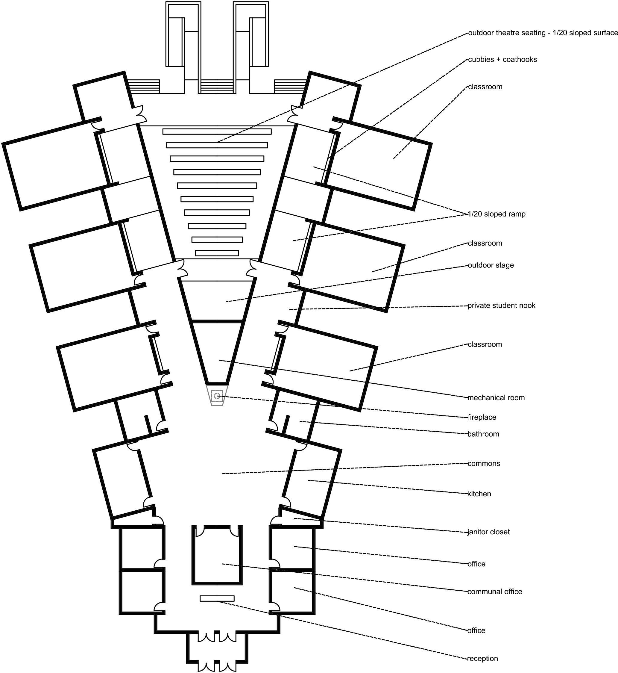 labeled floor plan