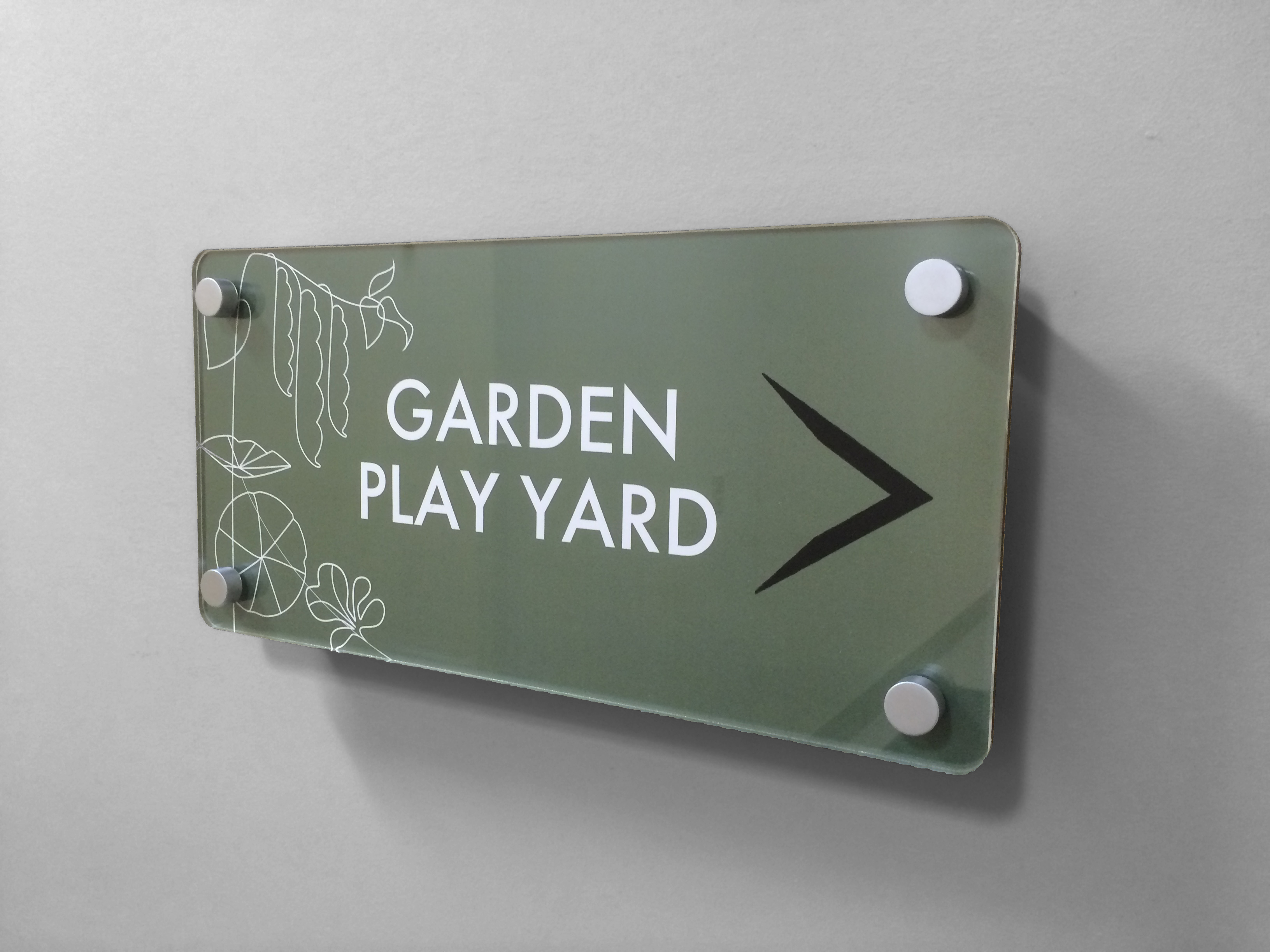 Interior Signage - Garden Play Yard