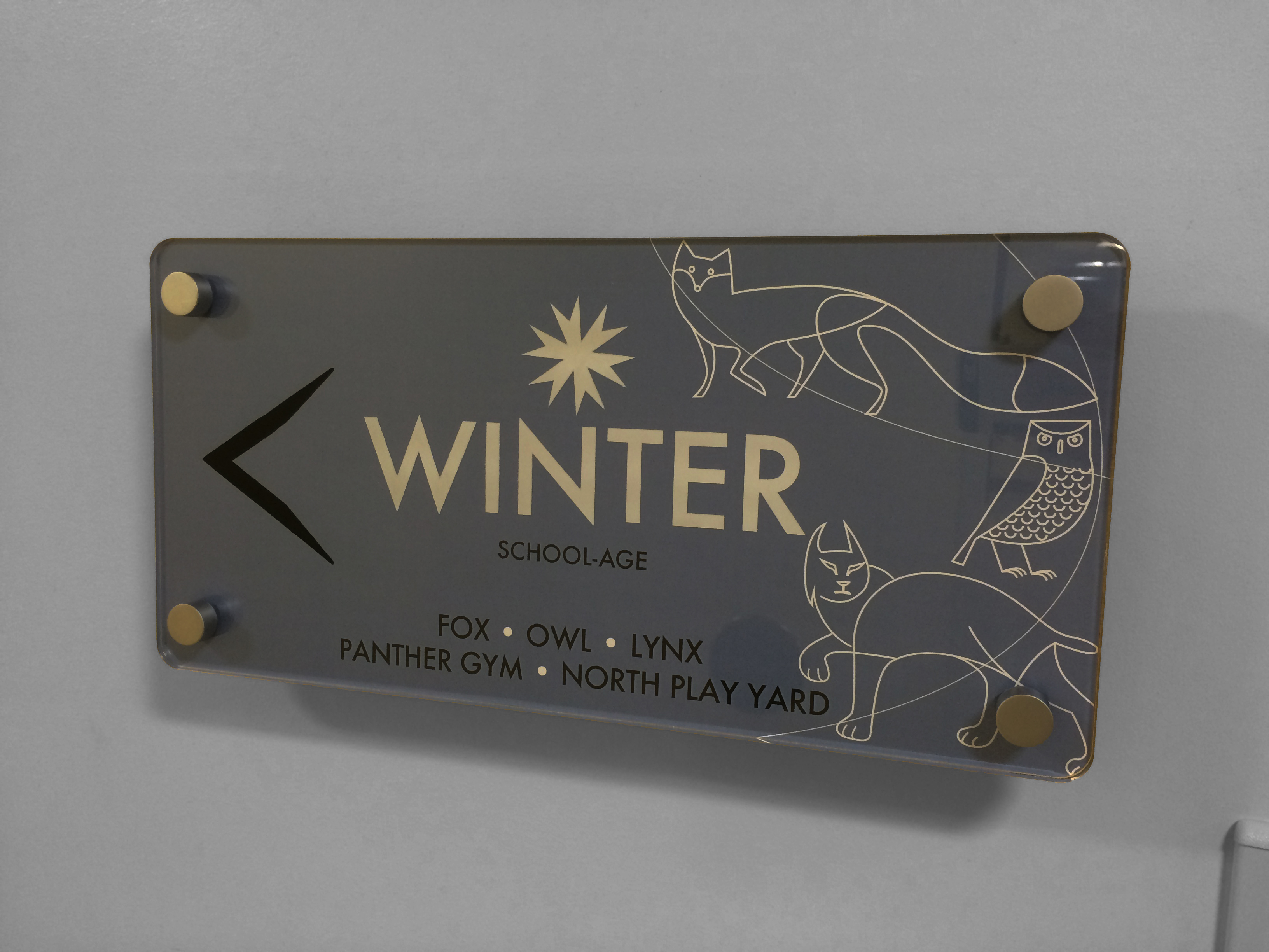 Interior Signage - Winter Wing