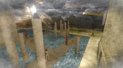 Exterior Rendering - Oak Park Plaza Pools