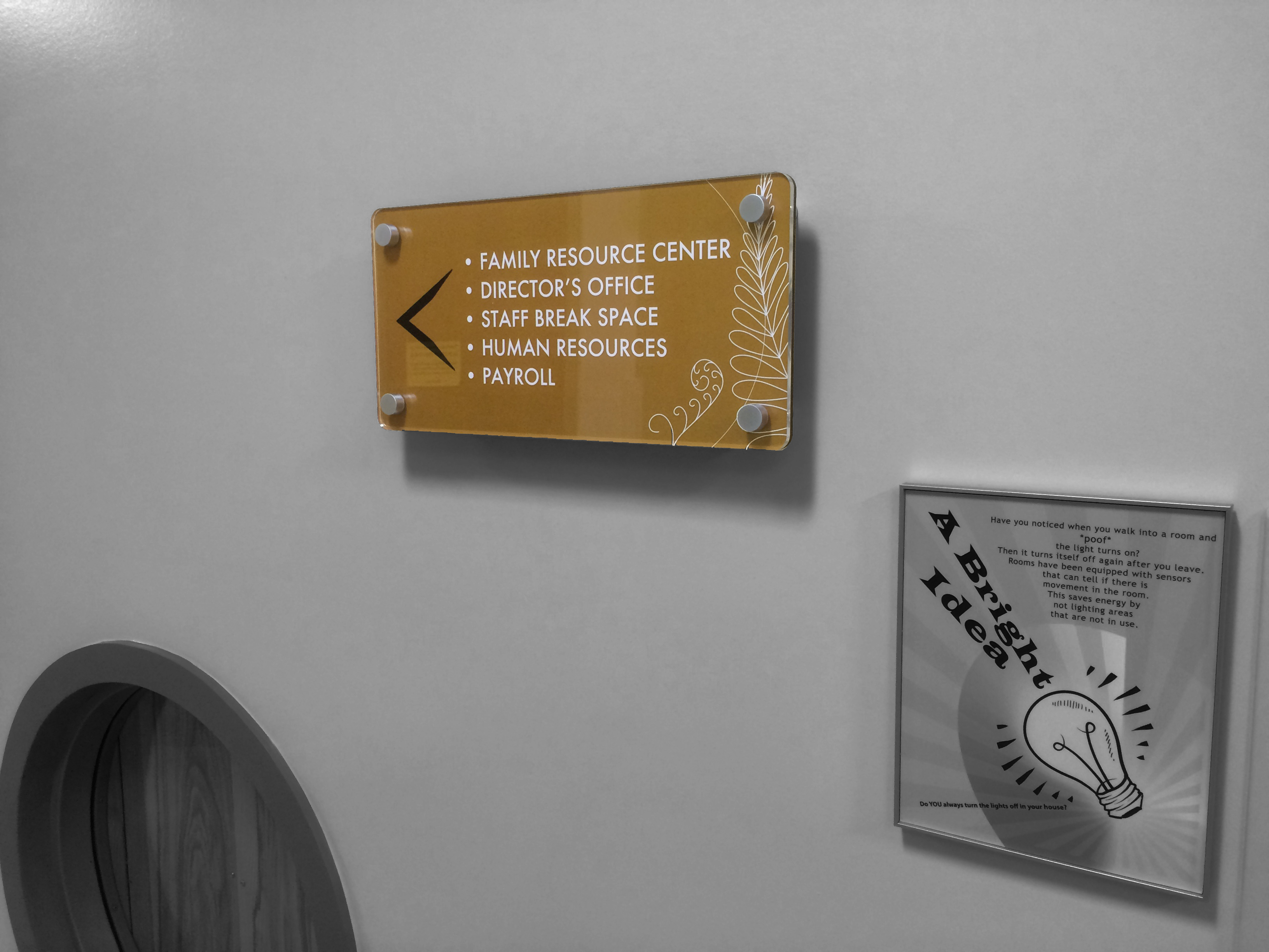 Interior Signage - Administration Offices