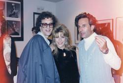 Mick Rock & Bob Ellis at Woody's