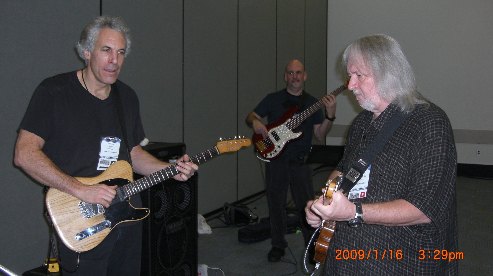 Pevar and Duncun  NAMM rehearsal 08