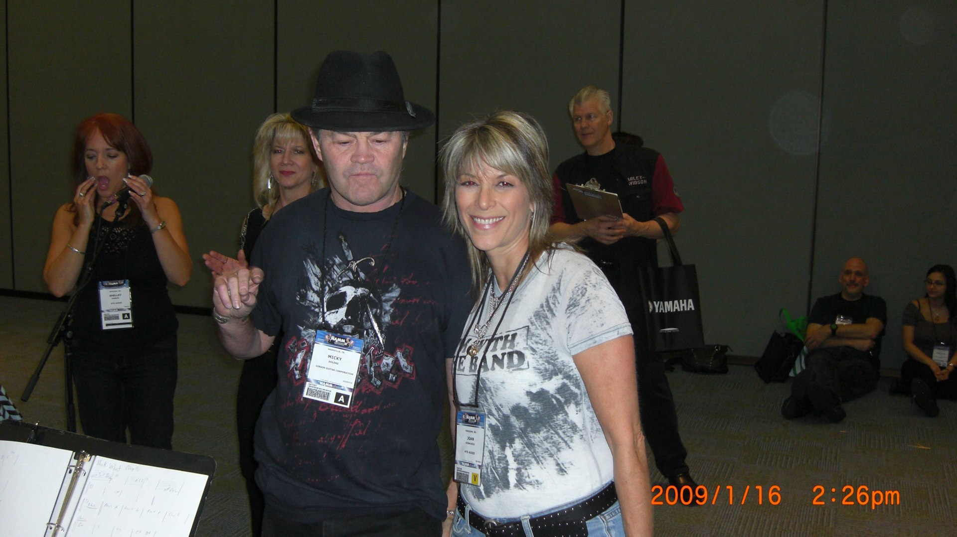 MICKY & ME NAMM rehearsal 08-wha