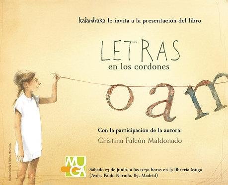 Letras en los cordones / Cristina Falcón y Marina Marcolin