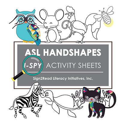 ASL Handshapes I-Spy Activity Sheets