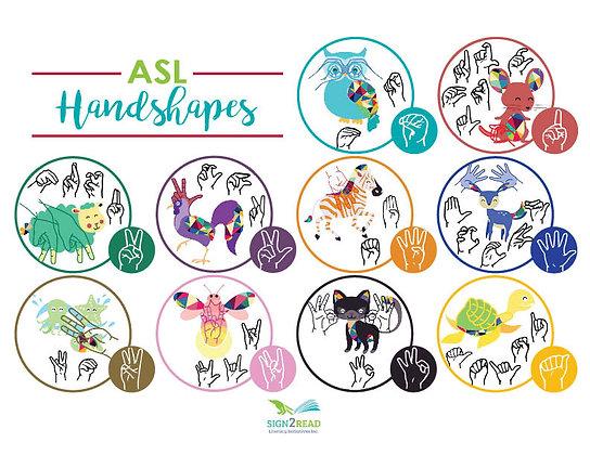"ASL Handshape Poster (11"" x 17"")"