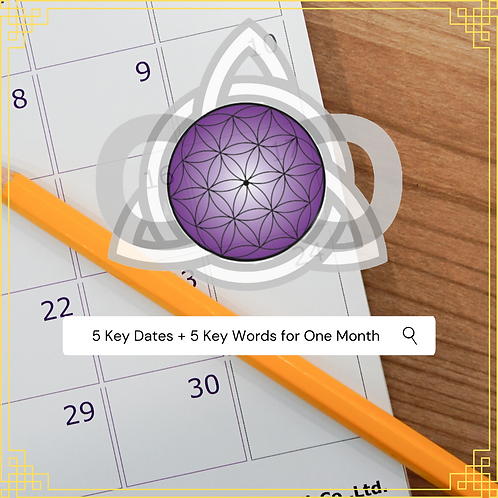 5 Key Dates + 5 Keywords for One Month