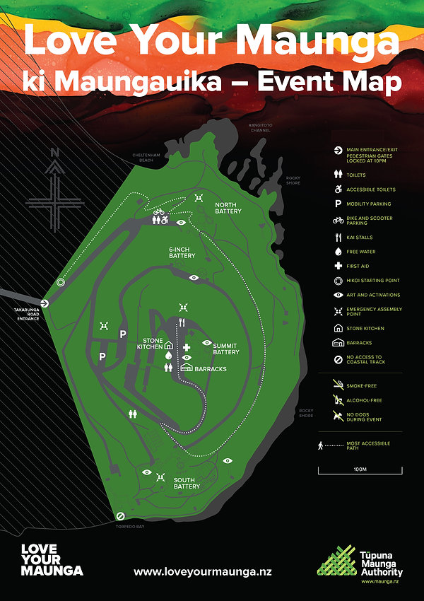 Updated Site Map - Love Your Maunga ki M