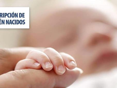 REGISTRO CIVIL: INSCRIPCIÓN DE RECIÉN NACIDOS