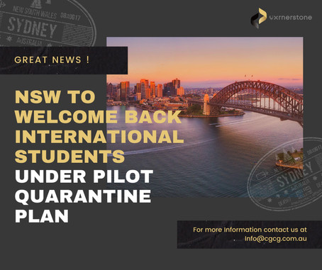 NSW government approved pilot program for international students and allow them to come back