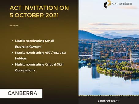 ACT Matrix Invitation on 05 October 2021
