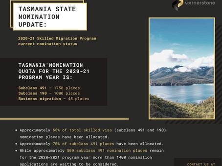 Tasmania State Nomination Update