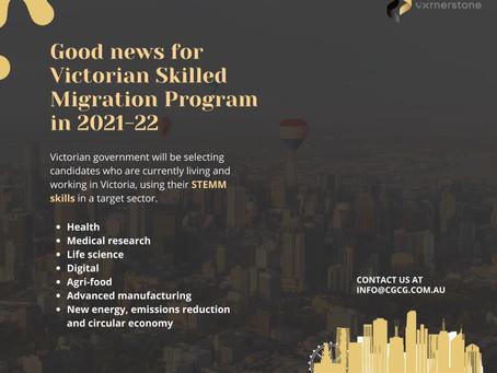 Victorian skilled migration program