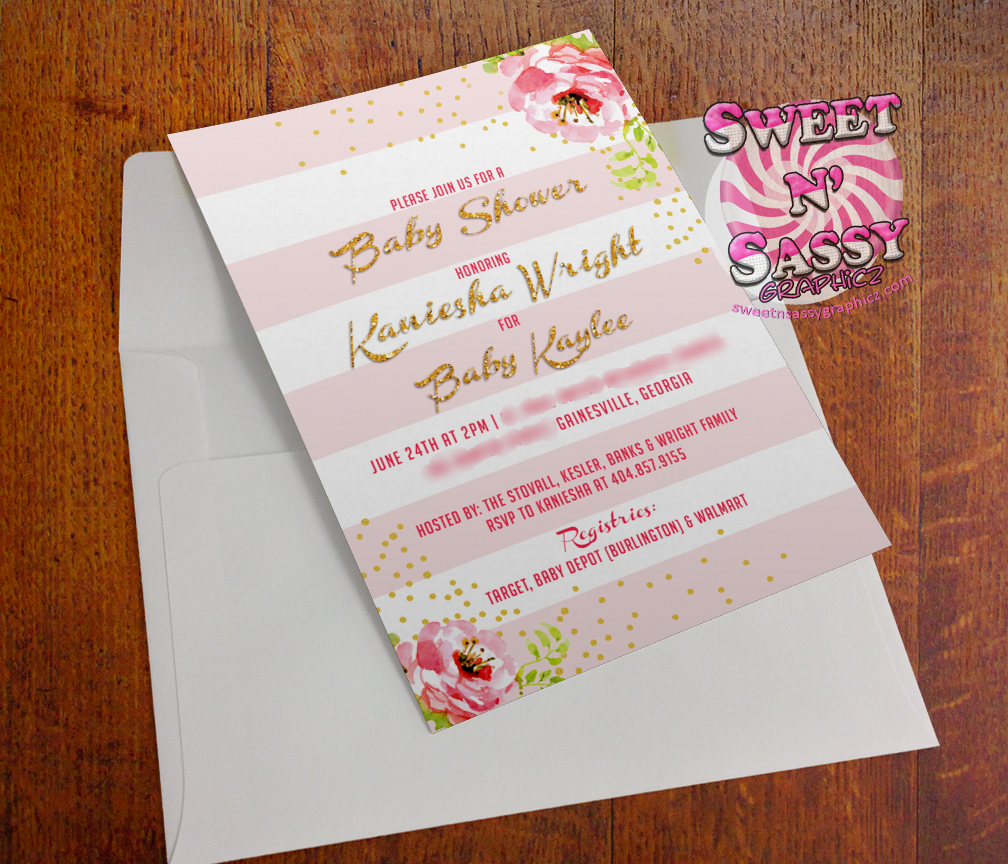 Pink Blush Baby Shower Invite