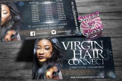 Virgin Hair Connect Post Card Flyers