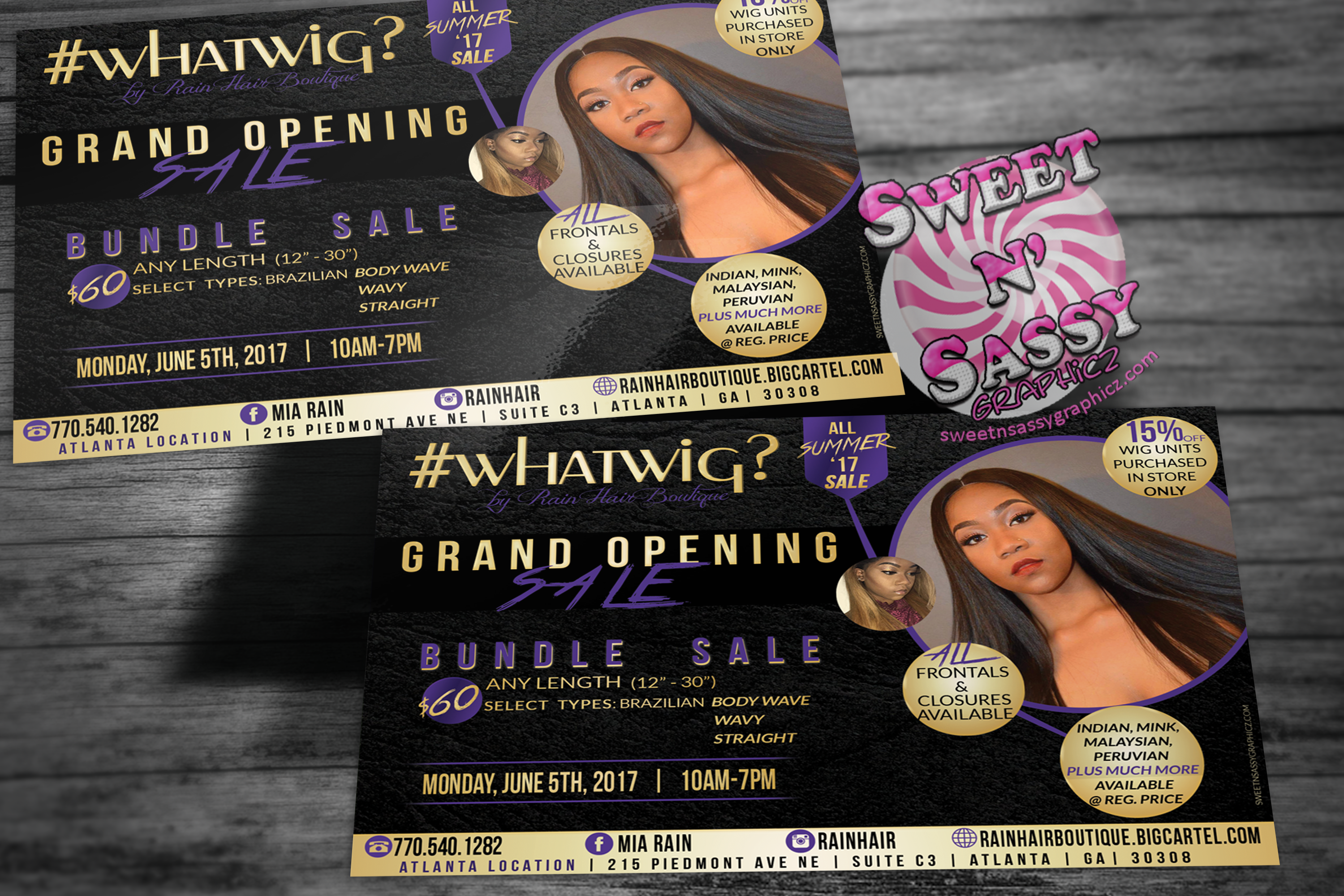 #WHATWIG Grand opening Flyer