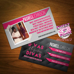 Pink Diva Inspired Business Card