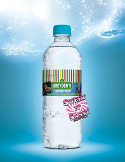 Seseme Street Water Bottle Label