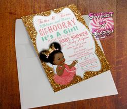 Tutus and Tiaras Babyshower Invite