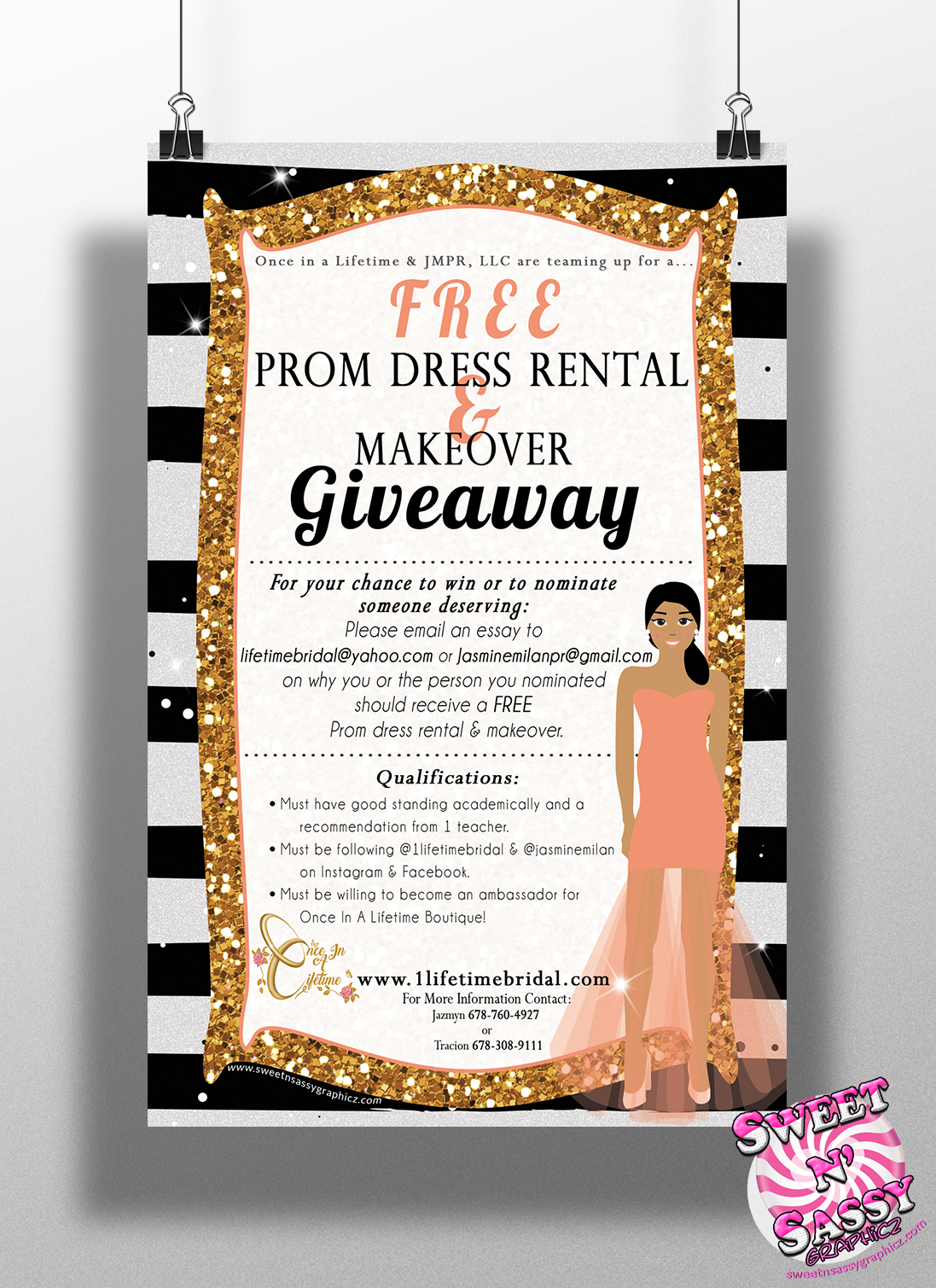 Lifetime Bridal Dress Giveaway Flyer
