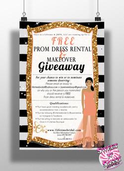 Lifetime Bridal Dress Giveaway Flyer