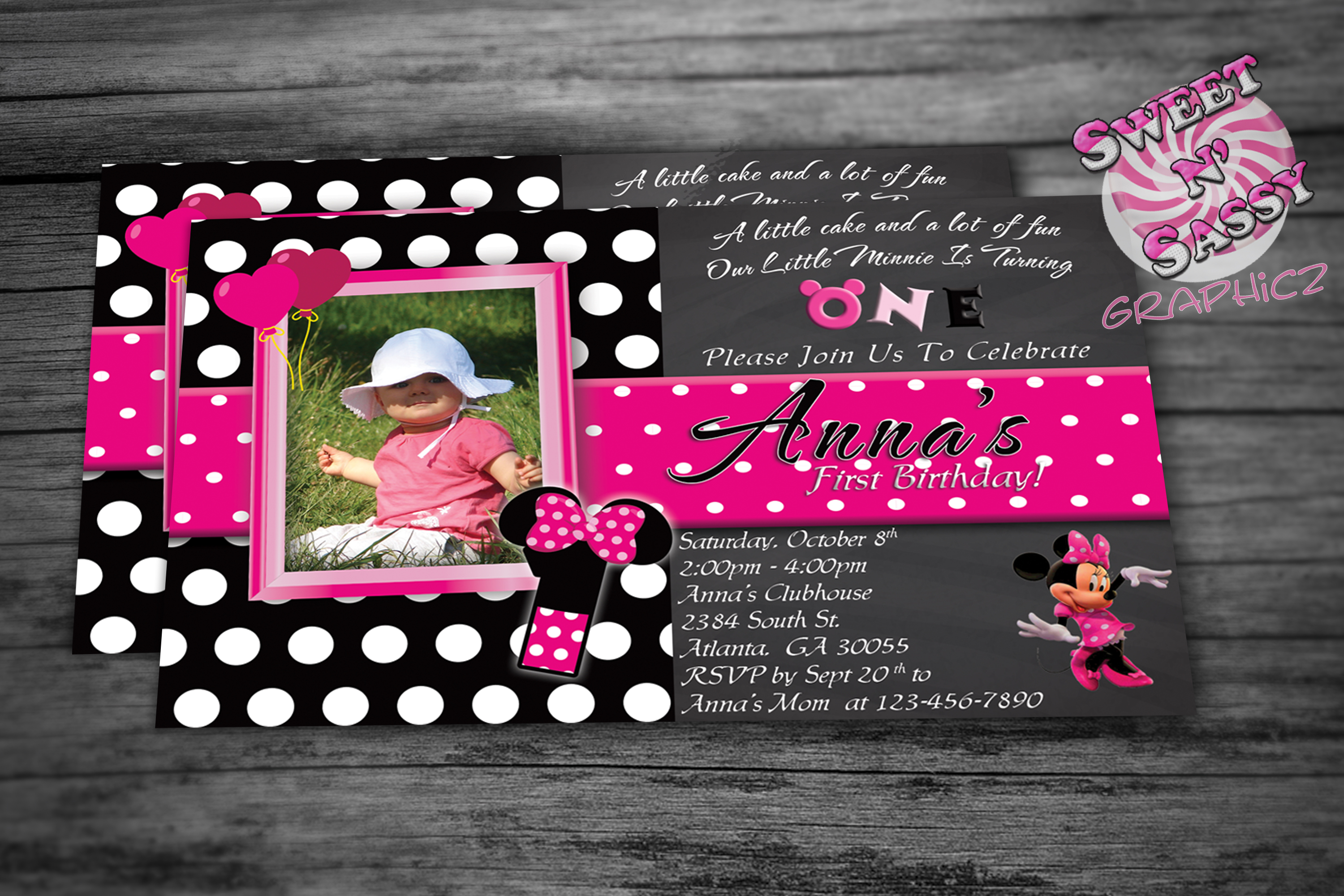 A Minnie Celebration Invitation