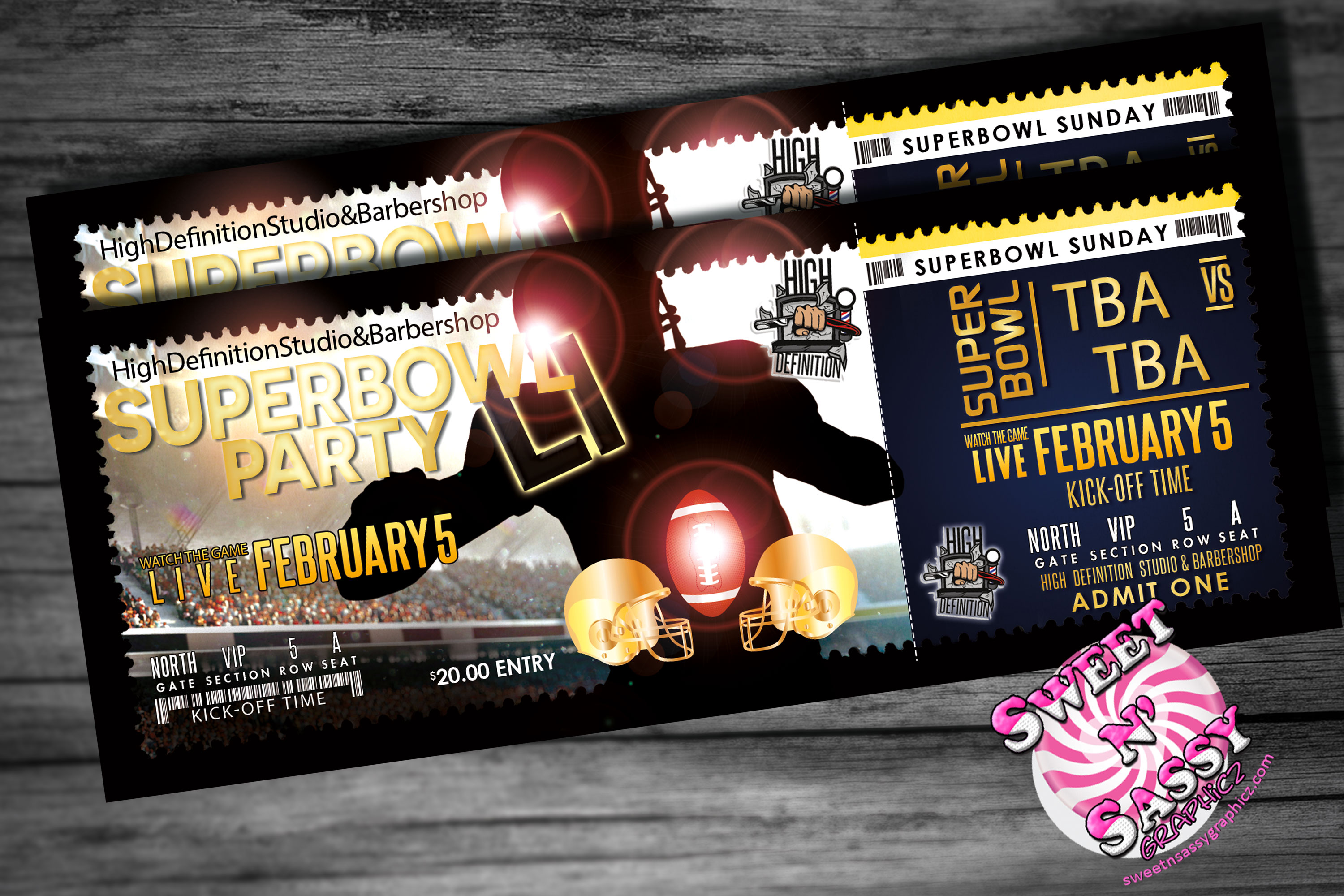 Superbowl Party Event Tickets